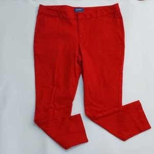 Old Navy twill red ankle pants size 16